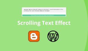 Scrolling Text Effect